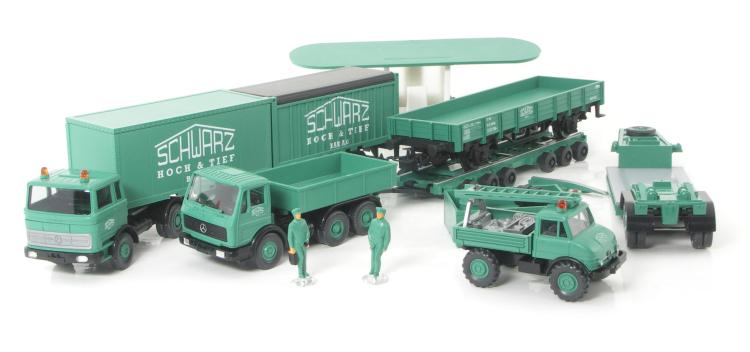 Wiking 1:87,MAN Zugmaschine Dolly Schwarzbau,Lechtoys Sondermodell 500 Stück